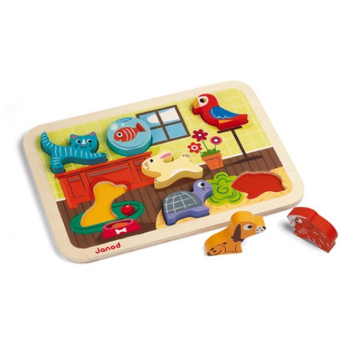 Janod - Puzzle chunky animaux