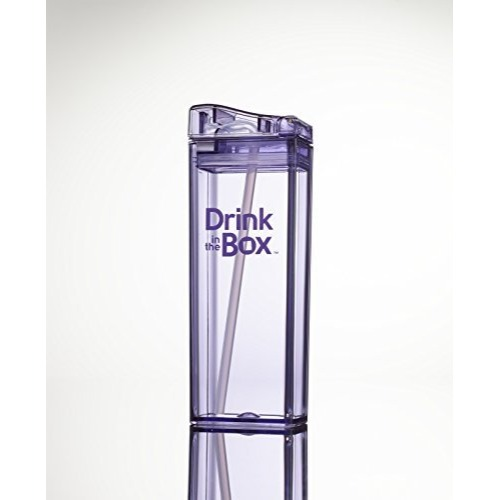 Boite à jus réutilisables Drink in the box - Mauve 12 oz