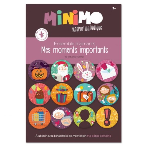 Minimo - Mes moments importants (12 aimants)