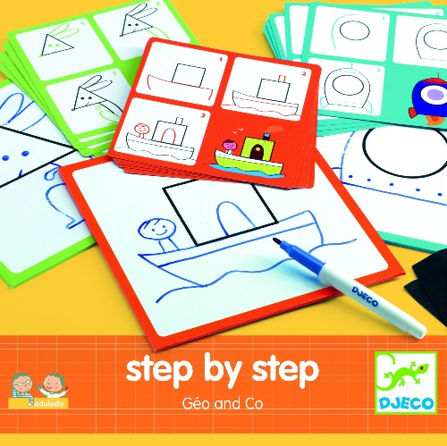 Djeco - Eduludo Step by Step Géo and Co